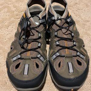 Men's Merrell sandals.